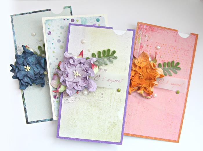 Самодельные открытки для 8