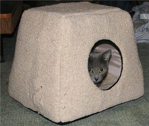 Дом для кошки сшить своими руками